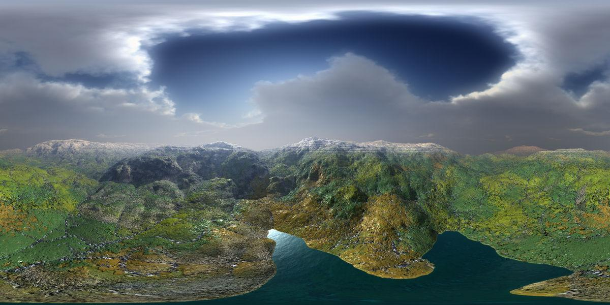 Eroded Mountains Panorama