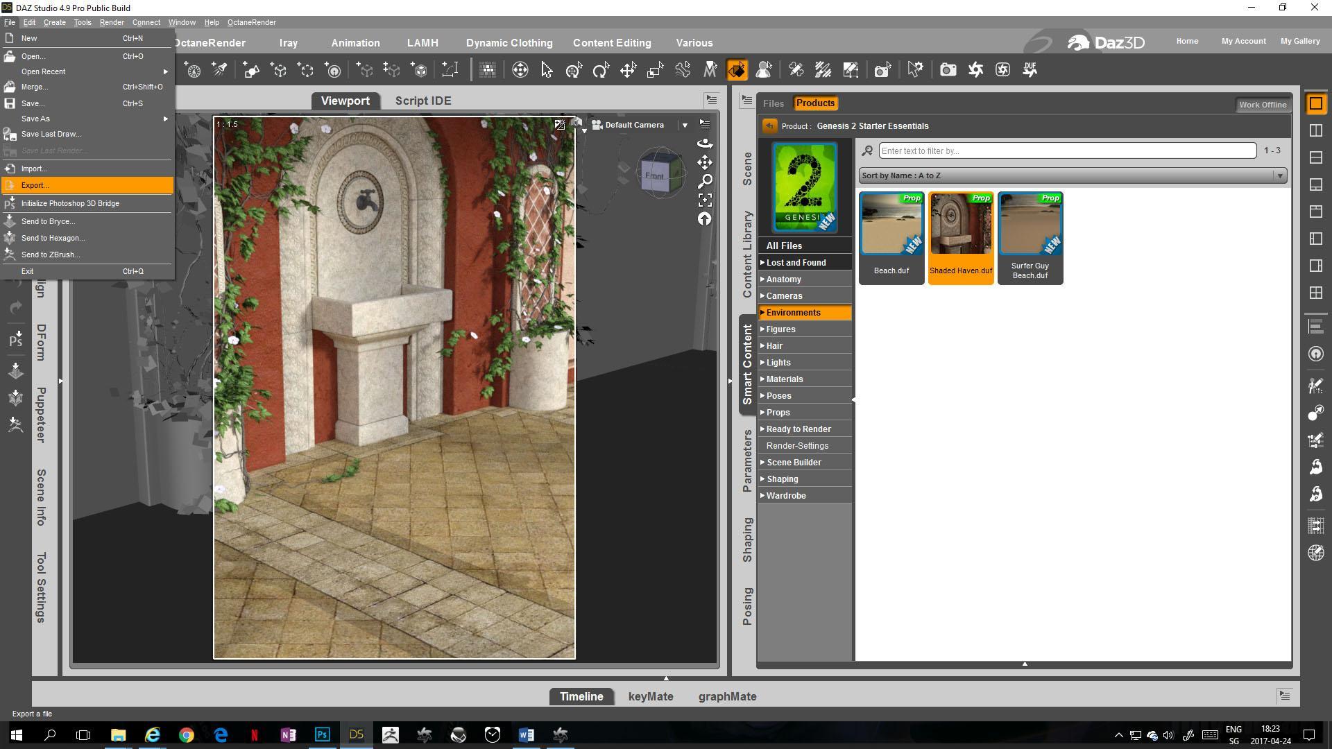 Quick Guide: Export scene from DAZ Studio to OctaneRender ...