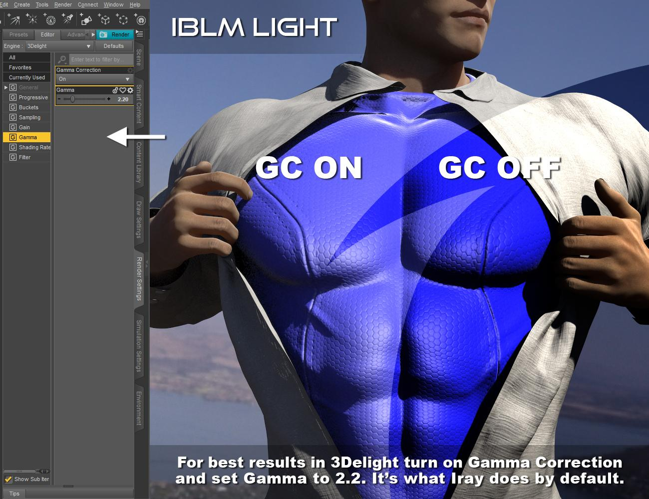 IBL Master: 3Delight render split - Gamma Correction vs No Gamma Correction