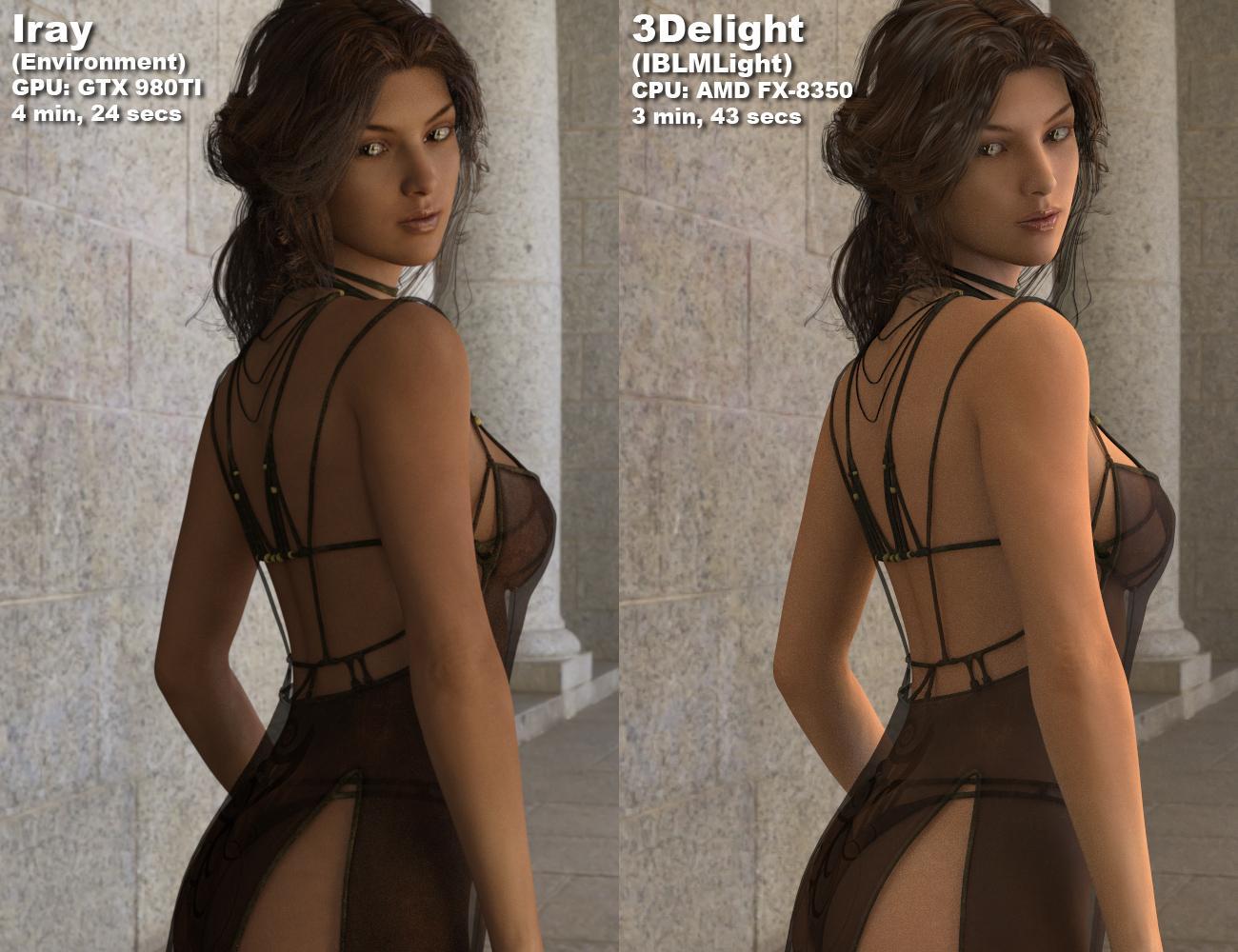 IBL Master: Compare Iray to 3Delight