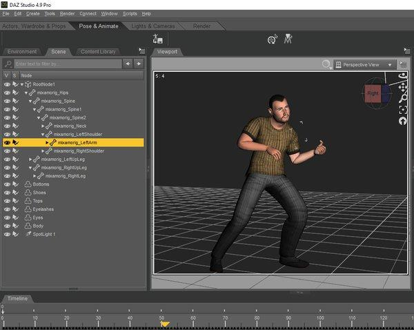 Mixamo rigged figures work in Daz Studio - Daz 3D Forums