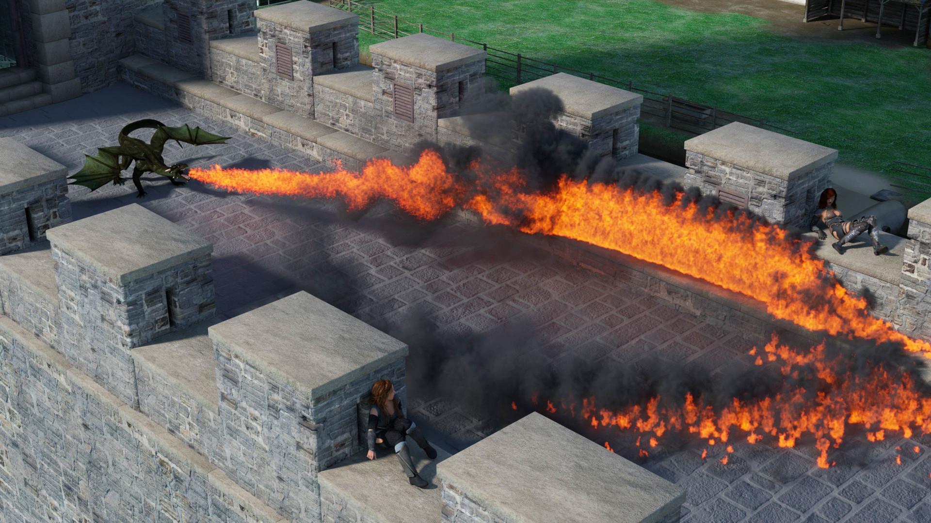 dragon flames render