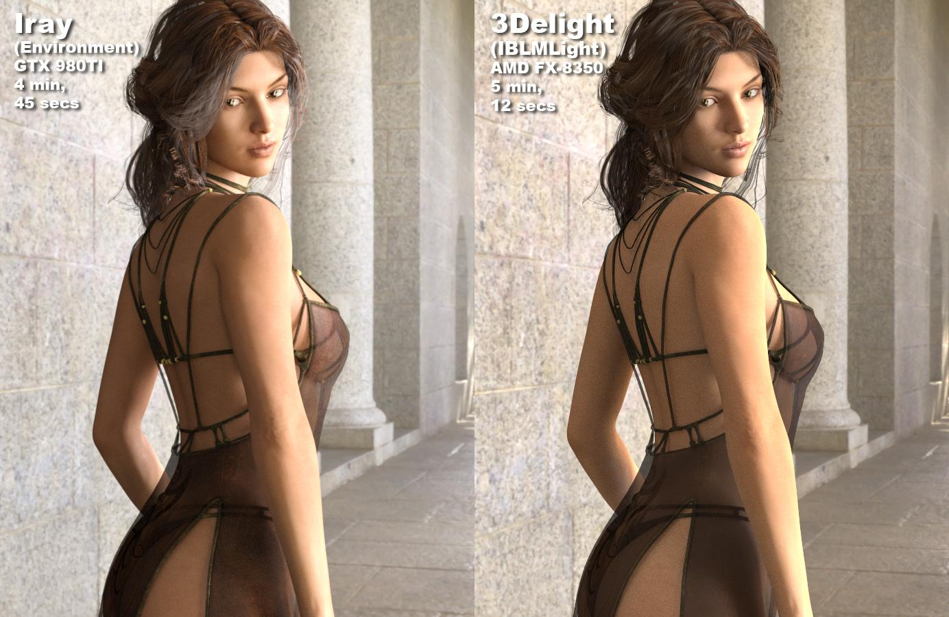 Image Based Light: Iray vs. 3delight with IBLMLight