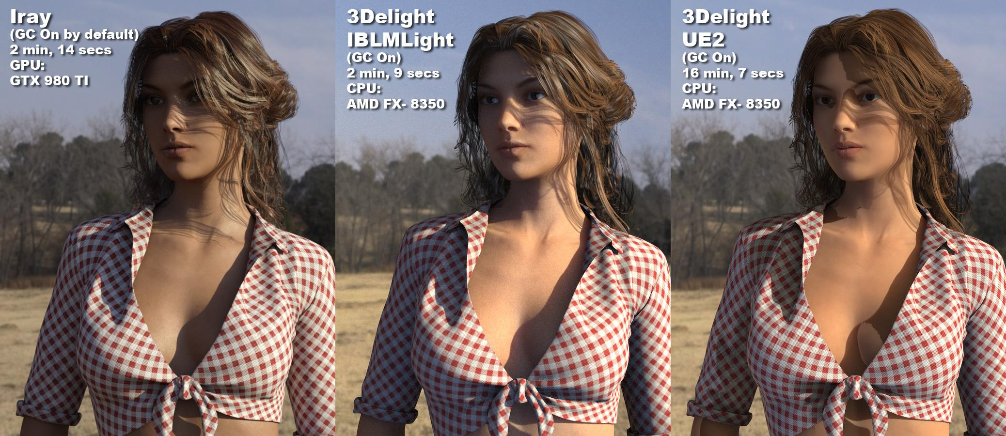 Image Based Light Compared: Iray, IBLMLight, and Uber Environment 2