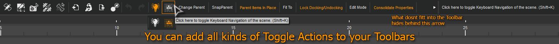 Tool Bar toggle Actions