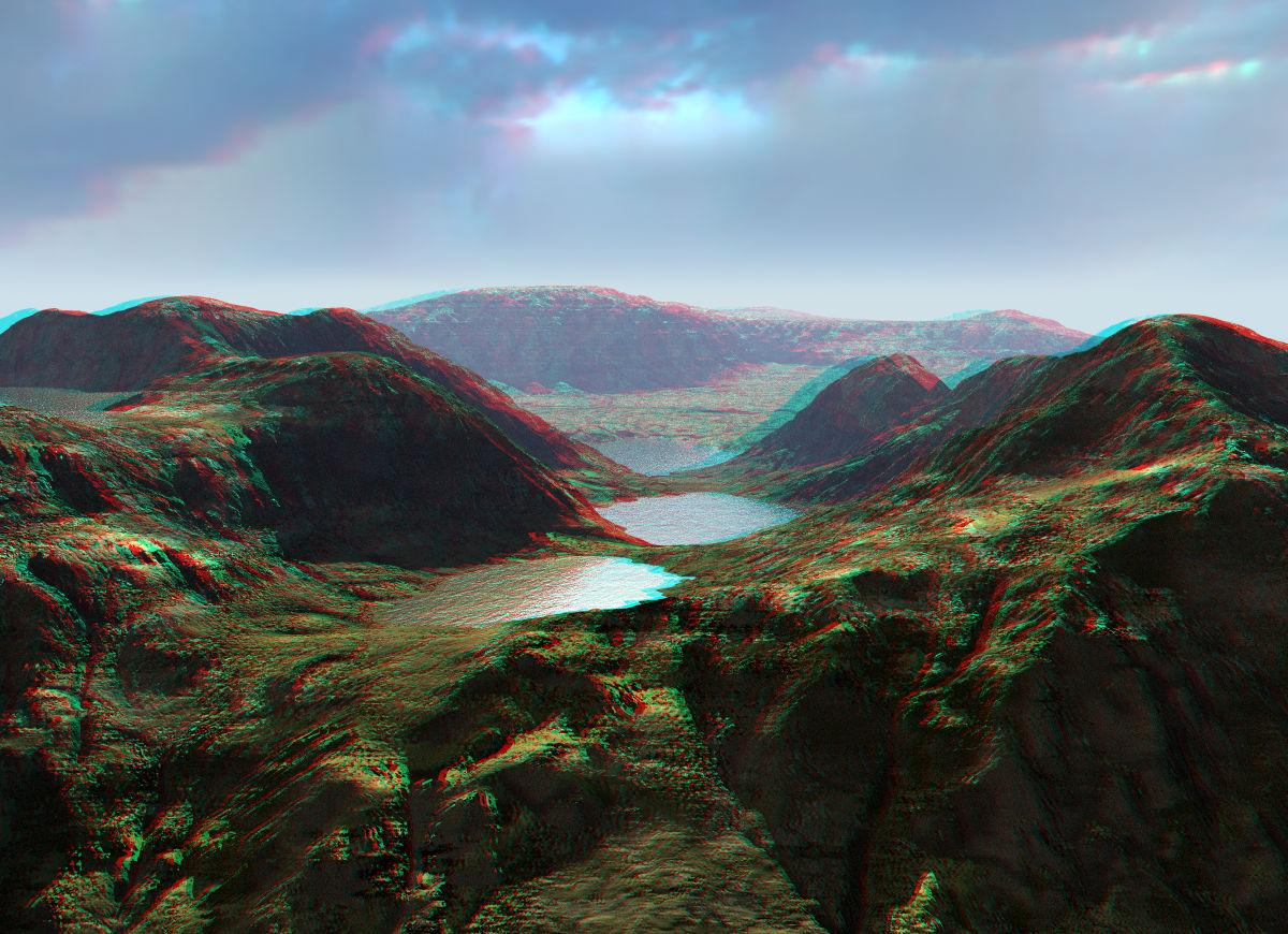 Four Lakes Anaglyph