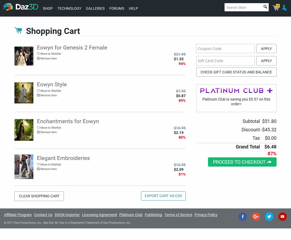 Shopping Cart screenshot, May 8, 2017