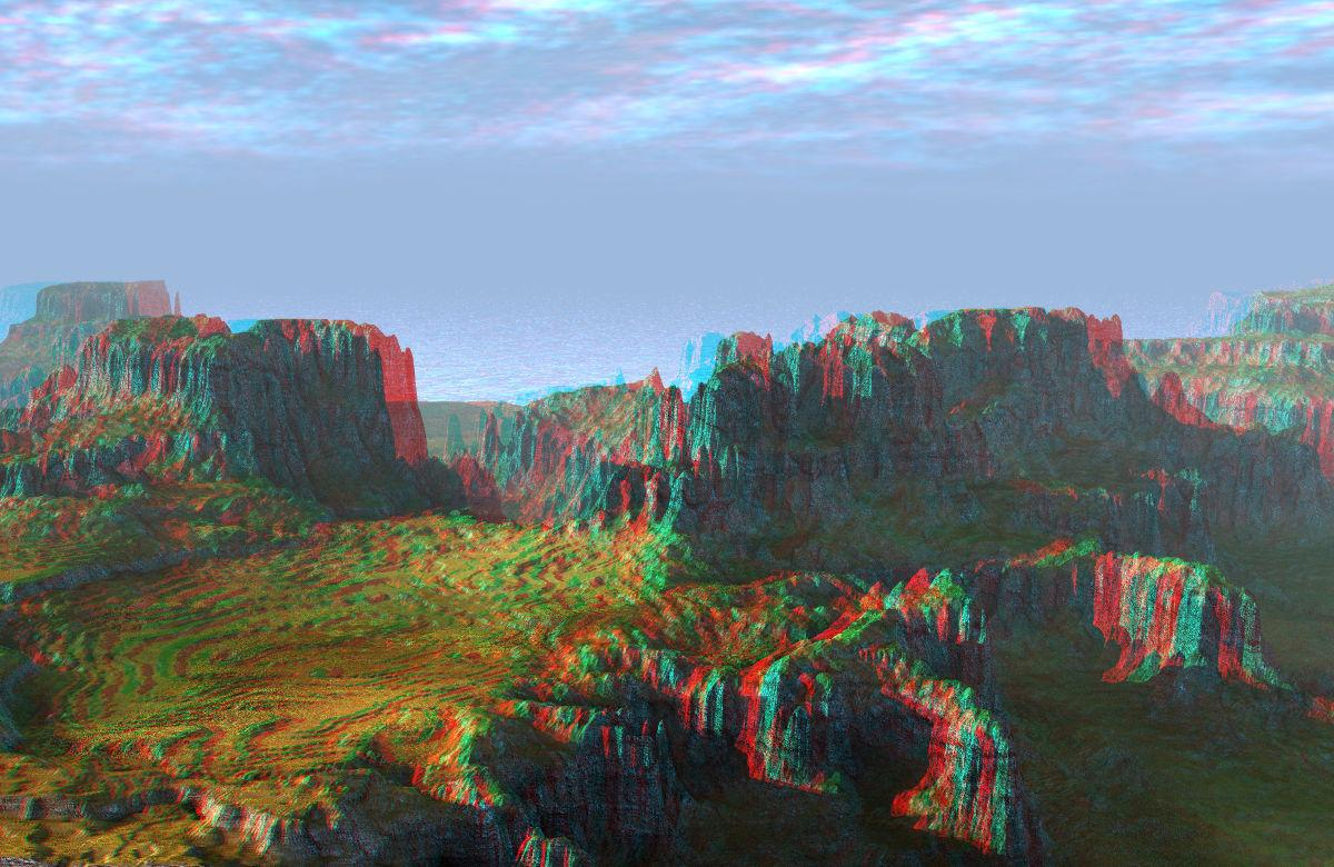 Mazy Land Anaglyph