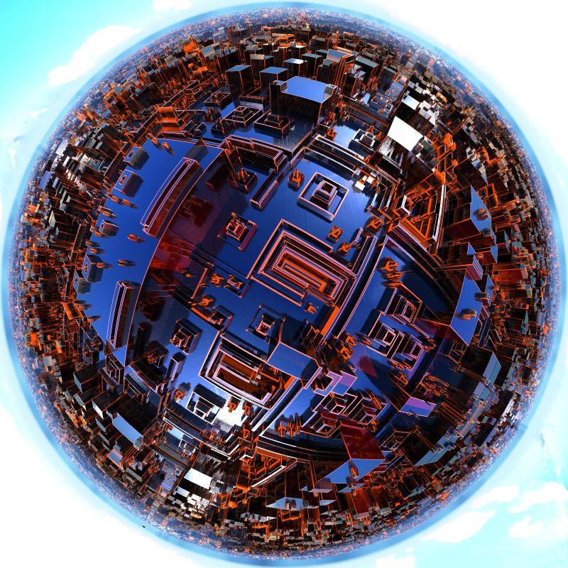 Neon Metropolis Planet