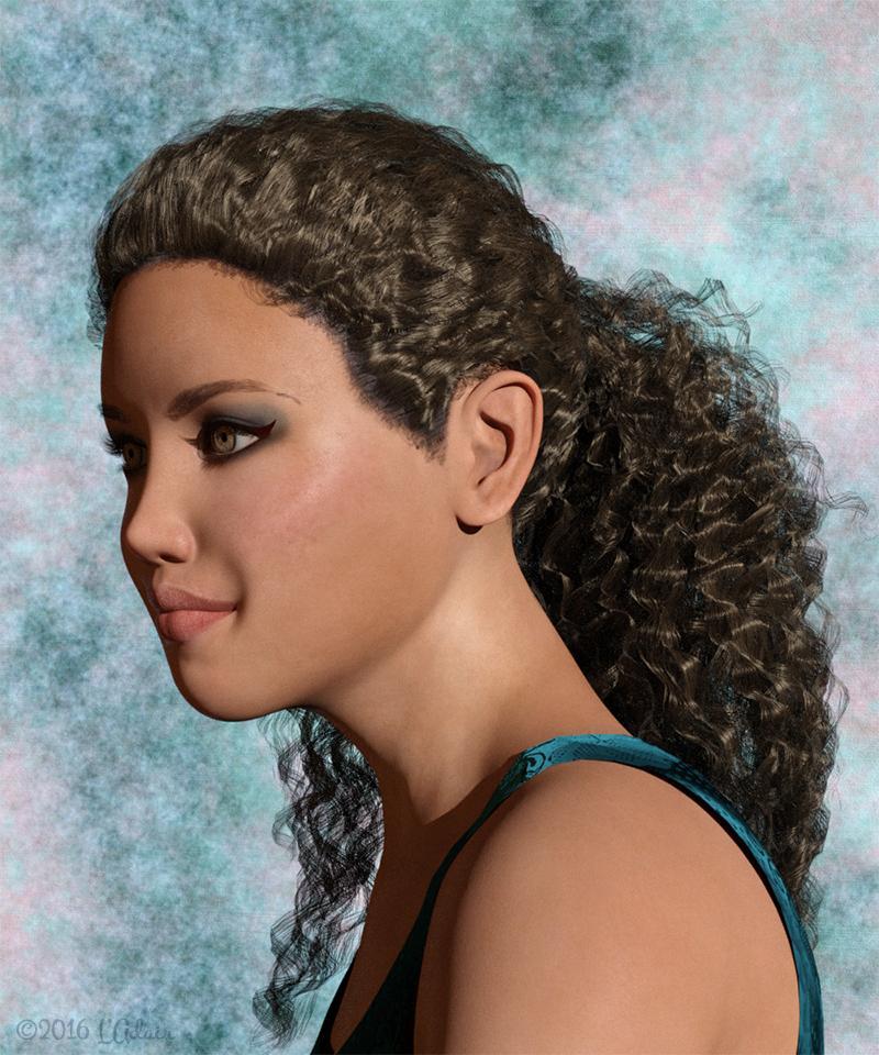 Kylan Hair using OOT's IrayPair Hair Shaders, by L'Adair