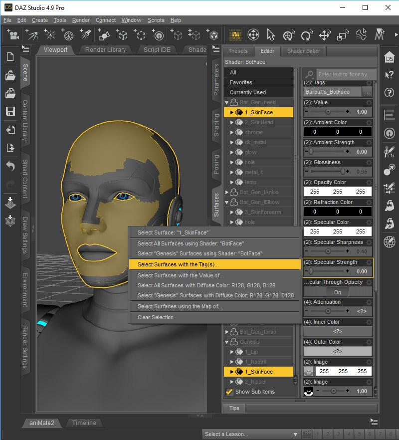 Tagging Surfaces in Daz Studio