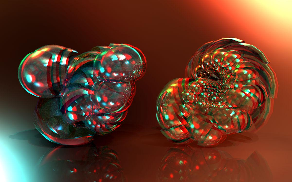 Shells of Colour Anaglyph