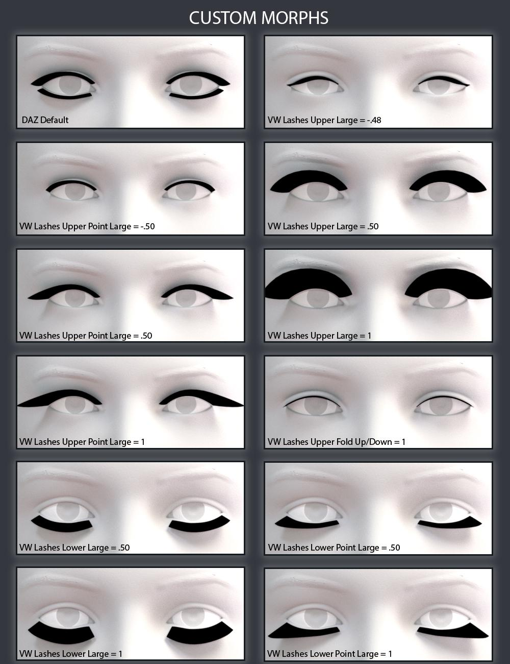 Commercial Great Lashes For Genesis 8 Available Now Daz 3d Forums