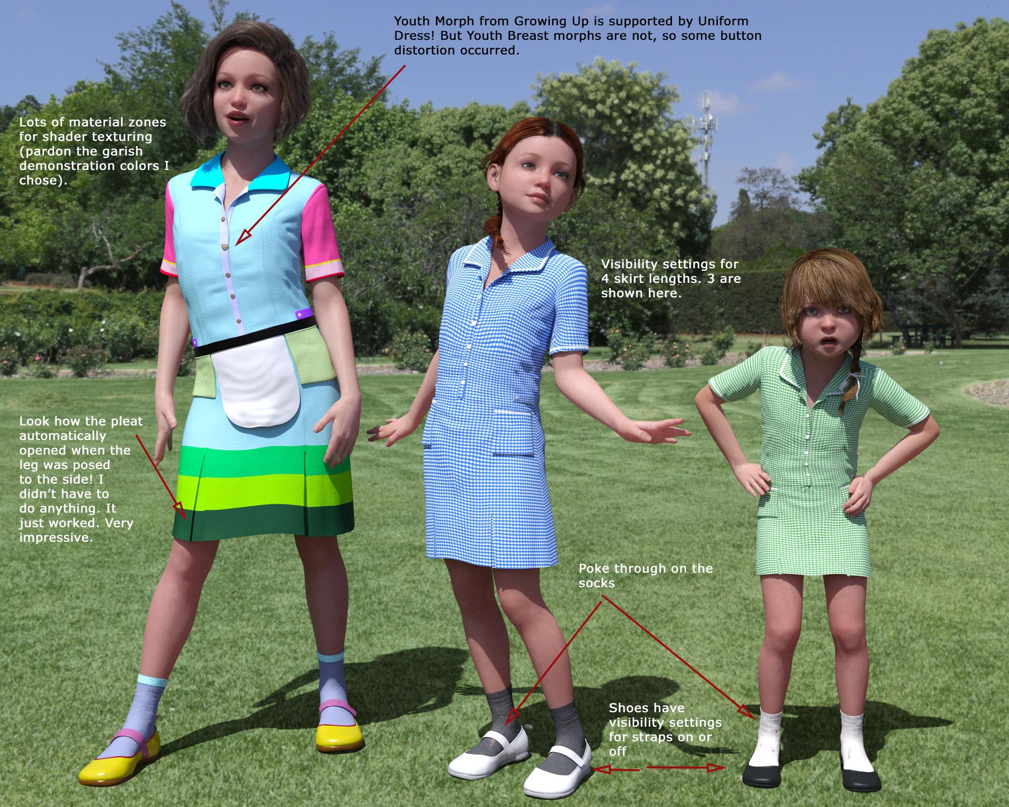 Uniform Dress Growing Up