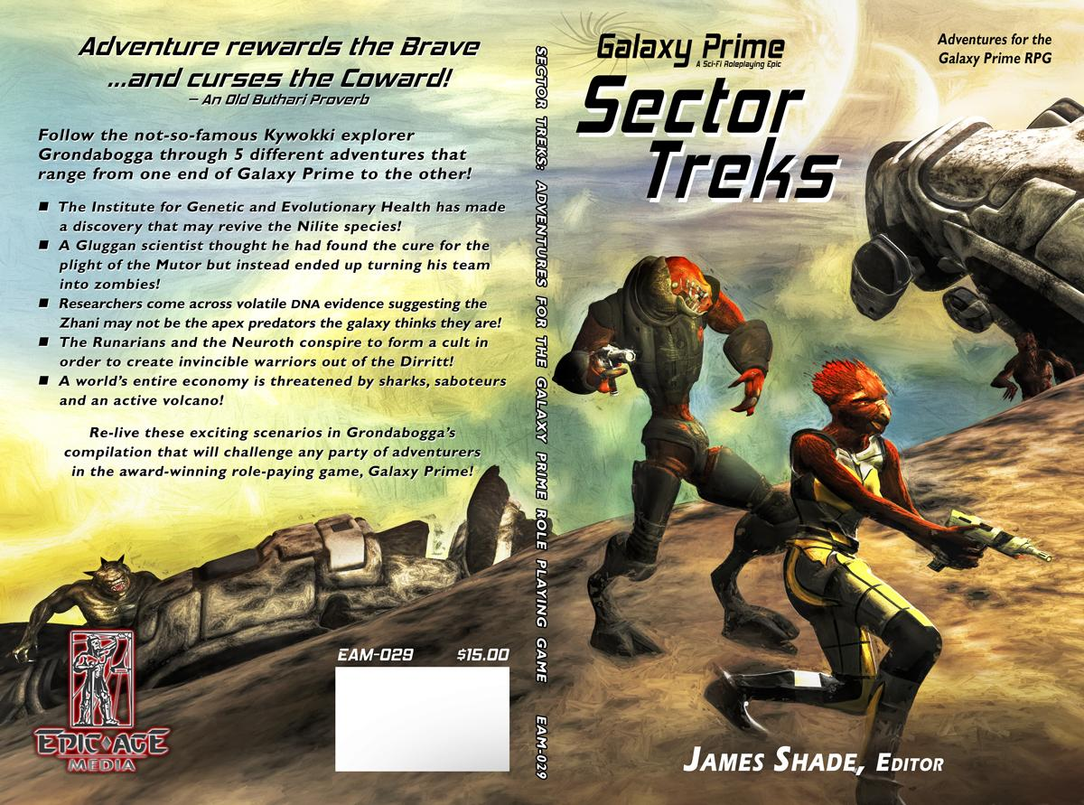 Galaxy Prime: Sector Treks cover proof