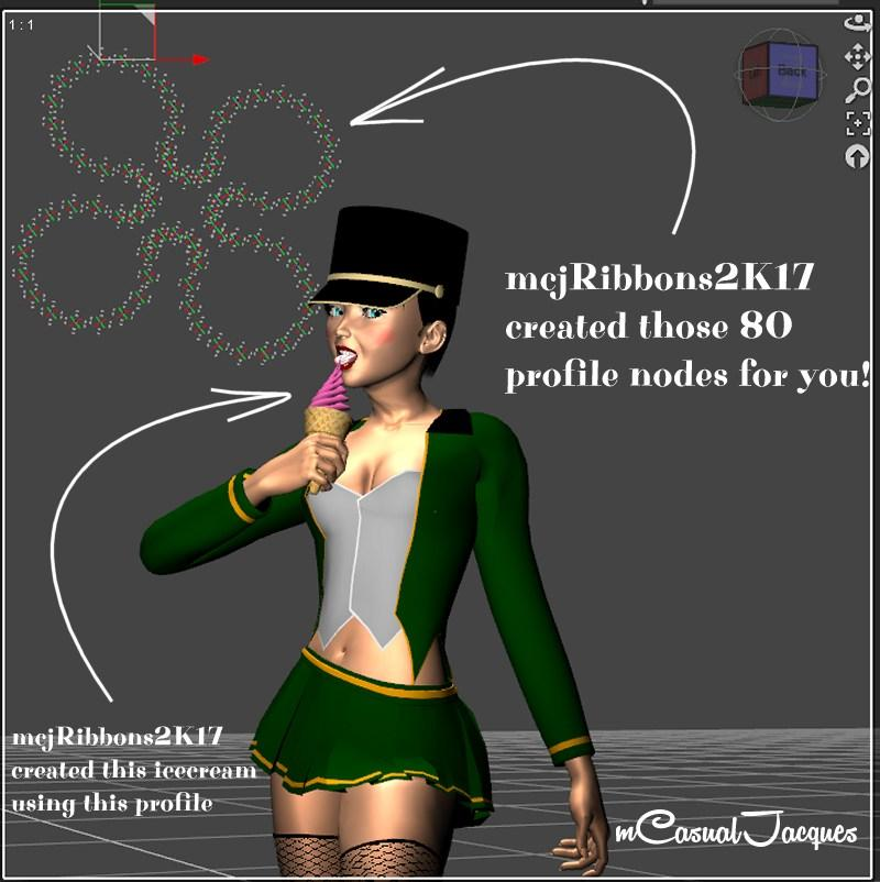 mcjribbons2k17 - Build things ( extrusion ) in Daz Studio, PC and