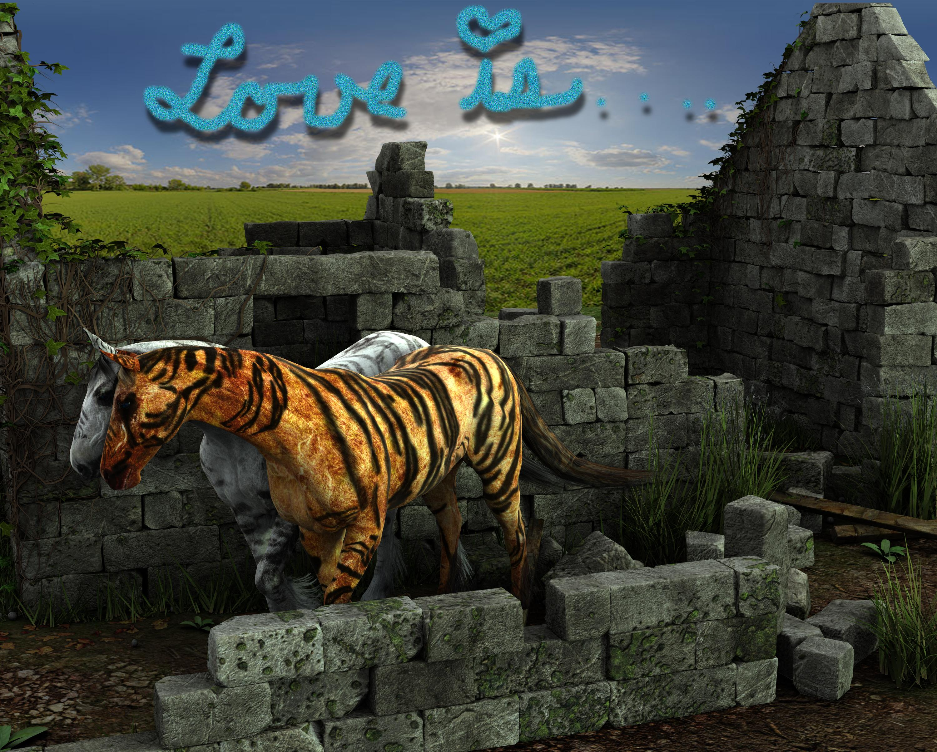 "3D Art Freebie Challenge February 2018 ""Love Is ""Winners"