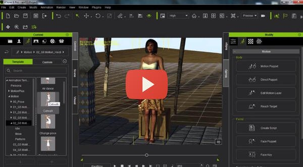 iClone Beginner's Guide: Animating with Motion Clips - Daz