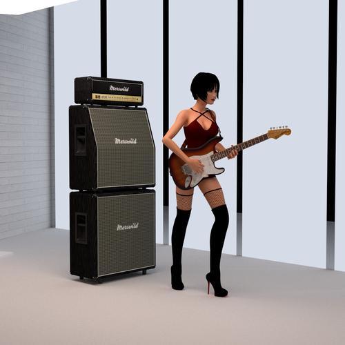 mcjstack full stack amplifier 2 speaker cabinets for electric guitars daz 3d forums. Black Bedroom Furniture Sets. Home Design Ideas