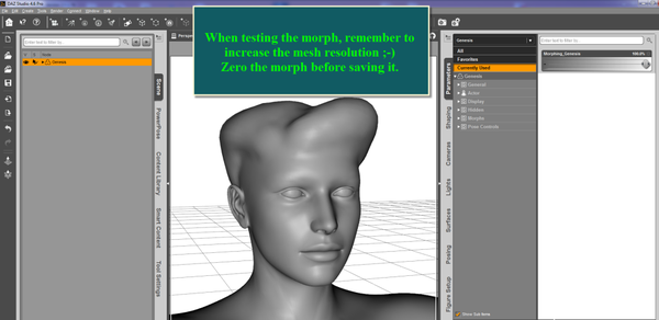 Genesis 2 Morph Making in Sculptris Alpha 6 Quick and Easy