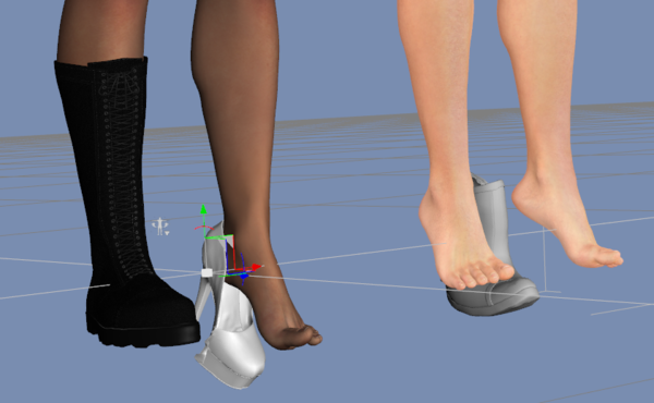 4ba8c8e58354 Shoes from v4 to G2F  Offset problem - Daz 3D Forums