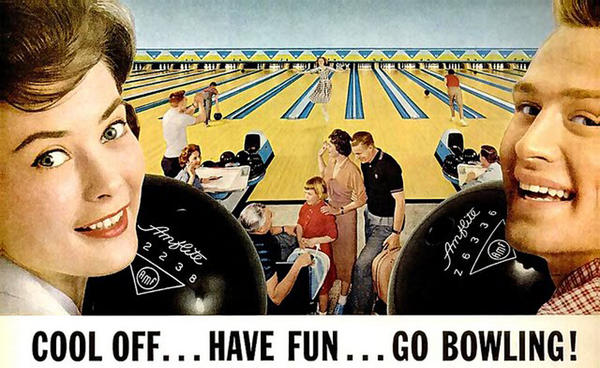 Image result for bowling 1950s